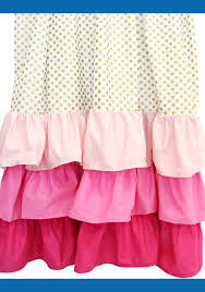 Gypsy Ruffled Shower Curtain Sweet Pink Ruffle Curtains For Young Girls U0027 Room Naindien