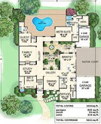 center courtyard house plans floor plan bigger bedrooms and add on an upstairs