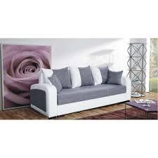 canapé gris et blanc pas cher canapé convertible moderne fiona bi color pas cher