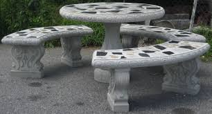 round cement picnic tables black bear general store benches picnic tables