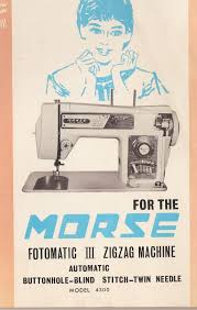 morse 4300 fotomatic iii 3 sewing machine owners manual user