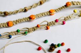 macrame beads bracelet images Macrame bracelet tutorial leslie unfinished jpg