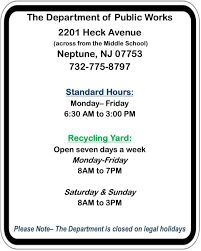 hours public works neptune township