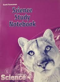 science study notebook california science grade 5 9780328236473