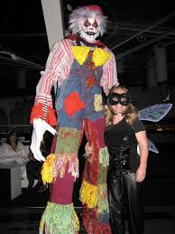 clown stilts costumes haunt of the falls