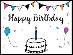 free birthday card free printable birthday card template