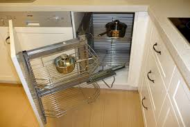 kitchen organizer modern pull out combine half rotations blind