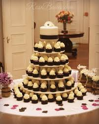 black white u0026 purple wedding cake and cupcake tower rose bakes