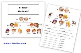 german family vocabulary practice die familie homeschool den
