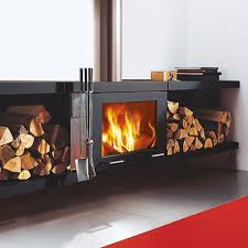 skantherm balance wood burning wall mounted stove fireplace products