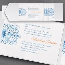 Wedding Invitation Cards Online Order Alluring Swirl Pocket Wedding Invitation Little Flamingo