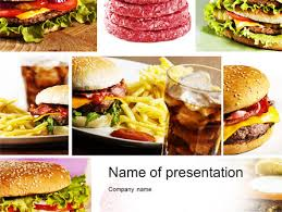 Fast Food Set Powerpoint Template Backgrounds 10590 Fast Food Ppt