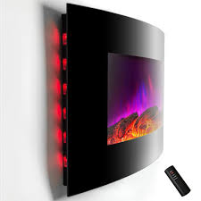 Wall Mounted Electric Fireplace Heater Akdy 36 In Wall Mount Electric Fireplace Heater Curved Multi