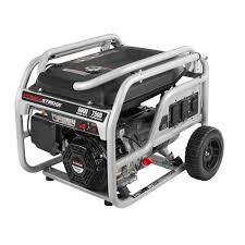 Portable Garage Home Depot Powerstroke 6 000 Watt Gasoline Powered Portable Generator