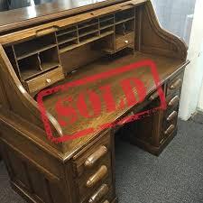 solid oak roll top desk plano used office furniture