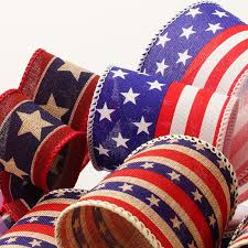 patriotic ribbon stripes patriotic ribbon shop ribbons