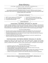 personal financial advisor sample resume financial resume