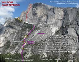 Yosemite Topo Map Rock Climbing In Half Dome Yosemite National Park