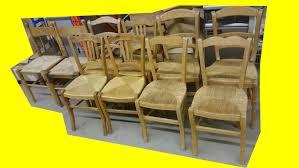 chaise en bois et paille lot de 10 chaises bois assise paille ancienne collectivité