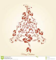 christmas tree floral stock photo image 34618660