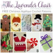 christmas applique free christmas applique crochet patterns the lavender chair