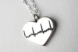 custom heart necklace handmade ekg sonogram custom heart necklace by rock my world inc
