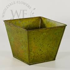 Tall Galvanized Planter by Galvanized Containers Wholesale Flowers And Supplies