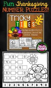 thanksgiving problem solving activities tricky tiles number