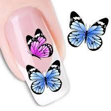 watermark butterflies fashion floral design nail art sticker