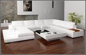 White Sectional Sofa Alluring White Leather Sectional Sofa Ideas For Living Room