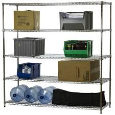 3 Shelf Wire Rack Wire Shelving Units With Five Shelves 24