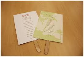 wedding program fan sticks paper fan wedding invitations wedding invitation ideas