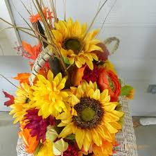 sunflower centerpiece home decor autumn floral decoration
