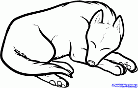 how to draw a sleeping dog sleeping dog step by step pets