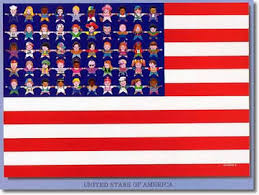 kids usa moskowitz united of america usa kids poster whimsical