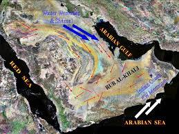 rub al khali map location of rub al khali desert in the arabian peninsula showing