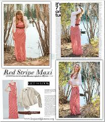 red striped maxi dress glamour zine