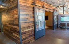 reclaimed wood wall covering irrational coverings design ideas
