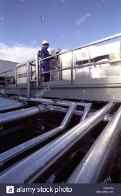 pipes of the plantroom on a rooftop stock photo royalty free