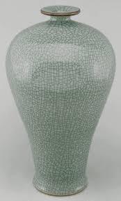 Celadon Vase Asian Decor Tall Celadon Vase From Beijing China