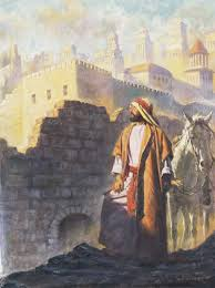 nehemiah inspects the walls of jerusalem