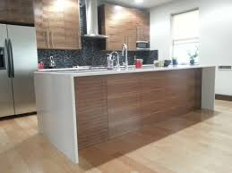 Kitchen Island Construction Furniture Decorate Kitchen With Waterfall Countertop And Kitchen