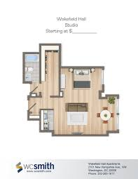 wakefield hall wakefield hall and apartments studio efficiency floor plan wakefield hall in northwest washington dc wc smith apartments