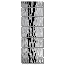 modern abstract black silver contemporary metal wall art home modern abstract black silver contemporary metal wall art home decor wild ways ebay