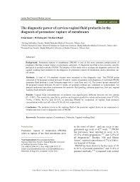 j dische k che the diagnostic power of cervico fluid prolactin in the
