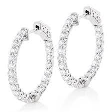 inside out diamond hoop earrings 1in diamond hoops 14k gold inside out diamond hoop earrings for