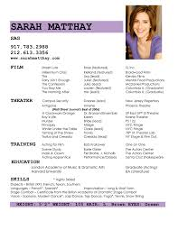 Child Actor Resume Sample by 16 October 2013 Ashley Connelly