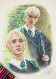 tom felton draco malfoy harry potter drawing by tokiiolicious