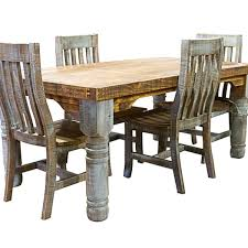Rustic Dining Table And Chairs Rustic Turquoise Colorwash Dining Table Chairs S