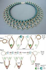 free beading pattern for pearl petals necklace nyakláncok